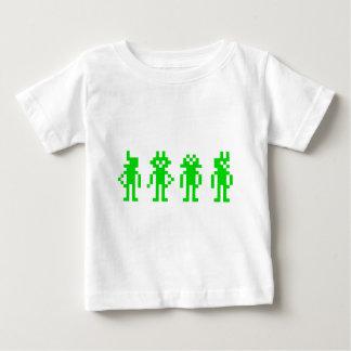 T-shirt Pour Bébé Green pixel robots