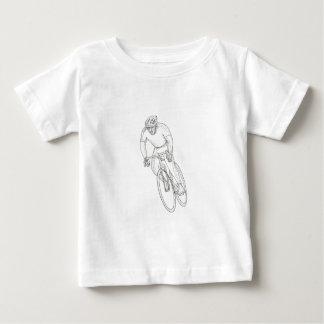 T-shirt Pour Bébé Griffonnage de emballage de bicyclette de route