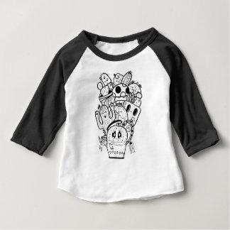 T-shirt Pour Bébé Griffonnage facile d'amour de cactus