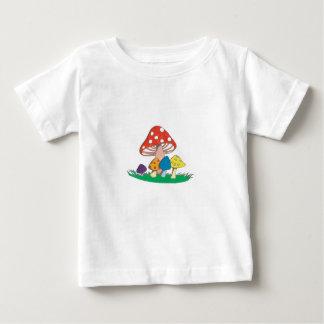 T-shirt Pour Bébé Groupe de champignon