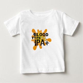T-shirt Pour Bébé Groupe sanguin drôle IPA de buveur de bière+