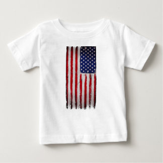 T-shirt Pour Bébé Grunge de drapeau des Etats-Unis