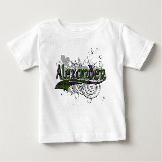 T-shirt Pour Bébé Grunge de tartan d'Alexandre