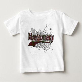 T-shirt Pour Bébé Grunge de tartan de Montgomery