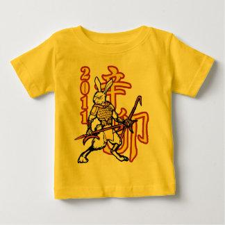 T-shirt Pour Bébé Guerriers de zodiaque : Année du lapin d'or,