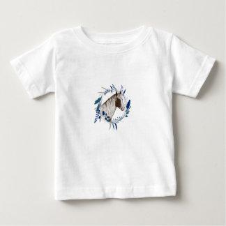 T-shirt Pour Bébé Guirlande bleue peinte de vacances de cheval
