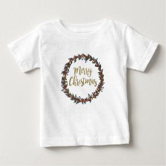 T-shirt Pour Bébé Guirlande d'aquarelle - Joyeux Noël - branches