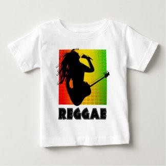 T-shirt Pour Bébé Guitare fraîche de musique de Rasta de reggae