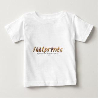 T-shirt Pour Bébé Habillement de logo d'empreintes de pas