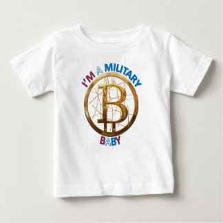 T-shirt Pour Bébé Habillement militaire de bébé de Bitcoin
