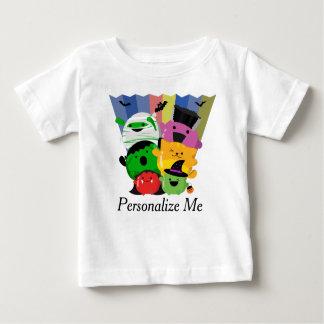 T-shirt Pour Bébé Halloween personnalisable - amis mignons de Mochi