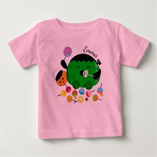 T-shirt Pour Bébé Halloween personnalisable - Frankenstein et