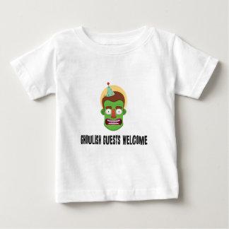 T-shirt Pour Bébé Halloween, zombi bienvenu d'invités horribles