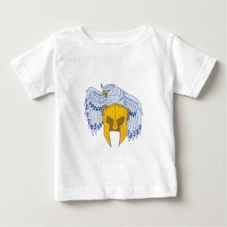 T-shirt Pour Bébé Hibou à cornes saisissant le dessin spartiate de