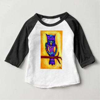 T-shirt Pour Bébé Hibou masculin pourpre