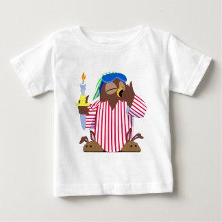 T-shirt Pour Bébé Hibou somnolent de Noël