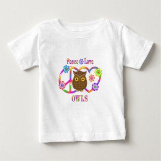 T-shirt Pour Bébé Hiboux d'amour de paix