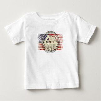 T-shirt Pour Bébé Horizon de Denver, drapeau des Etats-Unis