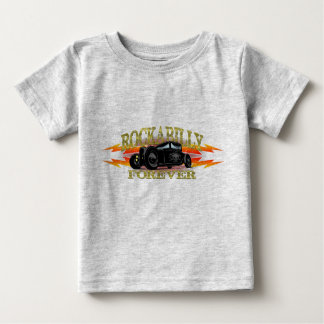 T-shirt Pour Bébé Hot rod de rockabilly de graisseur