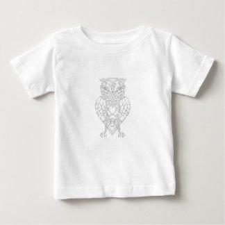 T-shirt Pour Bébé Houblon et Celtic Knotwork de hibou d'orge