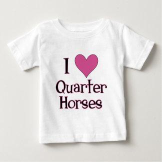 T-shirt Pour Bébé I chevaux quarts de coeur