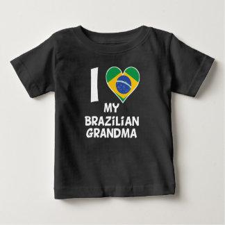 T-shirt Pour Bébé I coeur ma grand-maman brésilienne