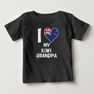 T-shirt Pour Bébé I coeur mon grand-papa de kiwi