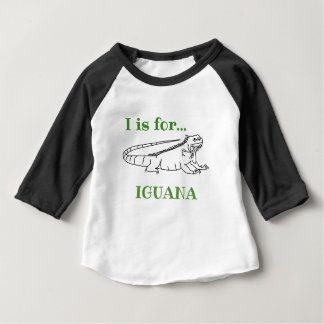 T-shirt Pour Bébé I est pour l'iguane