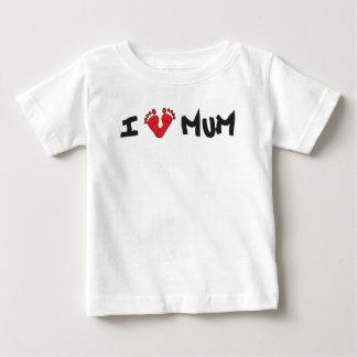 T-shirt Pour Bébé I love Mum