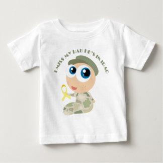 T-shirt Pour Bébé I ruban jaune de Mlle My Dad Soldier Kids