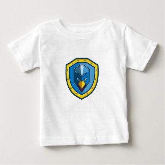 T-shirt Pour Bébé Icône bleue de bouclier de Mohawk de poulet