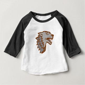 T-shirt Pour Bébé Icône de loup gris d'écorcement