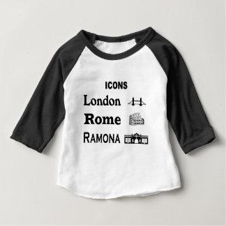 T-shirt Pour Bébé Icône-Londres-Rome-Ramona