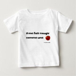 T-shirt Pour Bébé Il me fait rougir