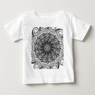T-shirt Pour Bébé Illusion optique de griffonnage fleuri de zen