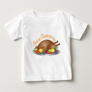 T-shirt Pour Bébé Illustration de dîner de la Turquie cuite au four