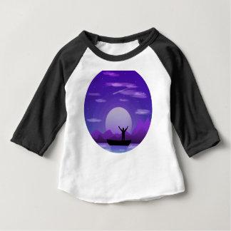 T-shirt Pour Bébé Illustration de nuit de paysage