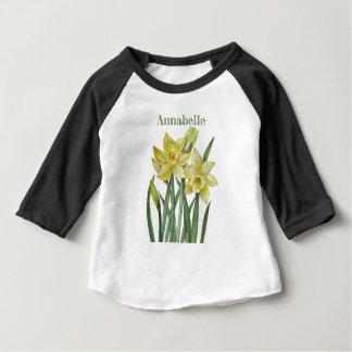 T-shirt Pour Bébé Illustration de portrait de fleur de jonquilles
