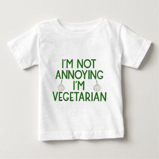 T-shirt Pour Bébé I'm urgence Annoying I'm Vegetarian ail Veggie