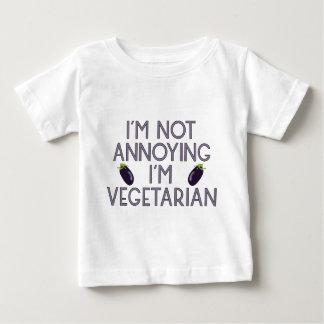 T-shirt Pour Bébé I'm urgence Annoying I'm Vegetarian aubergine