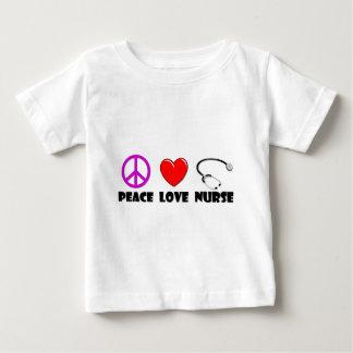 T-shirt Pour Bébé Infirmière d'amour de paix