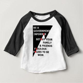 T-shirt Pour Bébé Informateur de gouvernement