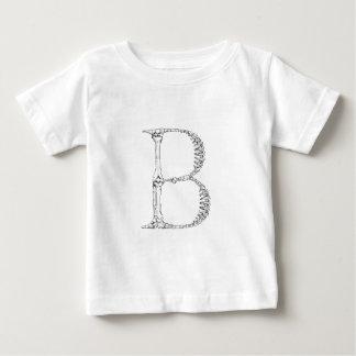 T-shirt Pour Bébé Initiale d'os de la lettre B