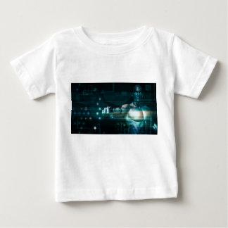 T-shirt Pour Bébé Interface futuriste avec l'utilisateur androïde de