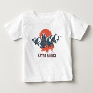 T-shirt Pour Bébé Intoxiqué de kayak