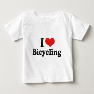 T-shirt Pour Bébé J'aime aller à vélo