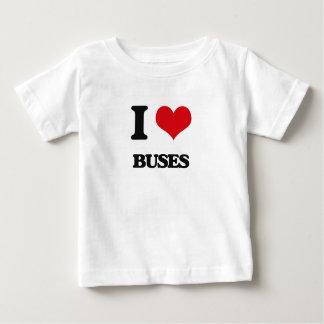 T-shirt Pour Bébé J'aime des autobus