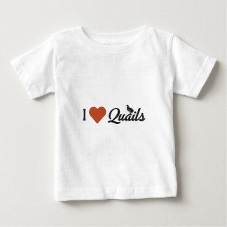 T-shirt Pour Bébé J'aime des cailles
