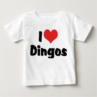 T-shirt Pour Bébé J'aime des dingos de coeur