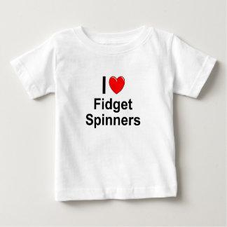 T-shirt Pour Bébé J'aime des fileurs de personne remuante de coeur